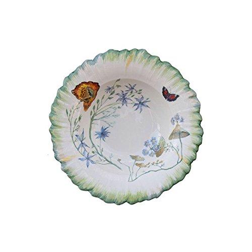 Faïencerie de Niderviller Assiette Creuse Ronde Folies botaniques faïence - Lot de 4