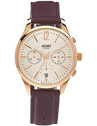 Henry London Unisex-Armbanduhr Hampstead Chronograph Quarz Leder HL39 - CS-0090 (Ricondizionato Certificato)