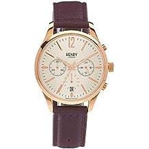 Henry de Londres Unisex Reloj de pulsera Hampstead Cronógrafo Cuarzo Piel hl39de CS de 0090 (Reacondicionado Certificado)