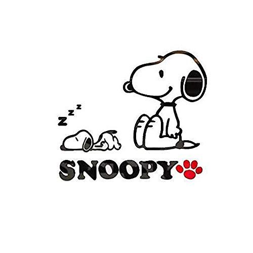 C&NN Cartoon Snoopy 3D Stereoscopic Acryl Kristall Wandaufkleber für Kinderzimmer Schlafzimmer Dekor,Snoopy,S