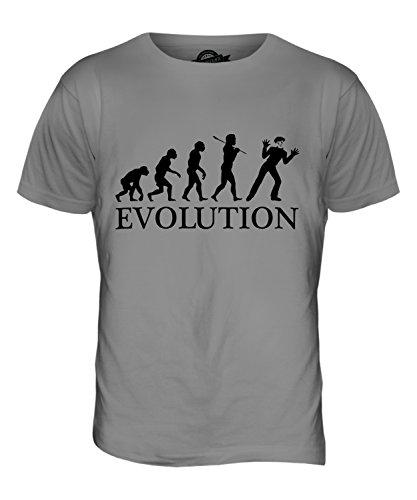 CandyMix Mime Evolution Des Menschen Herren T Shirt Hellgrau