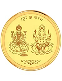 PC Jeweller 5 Gram 24K (995) Yellow Gold Religious Design Coin
