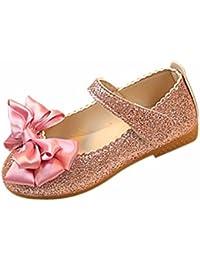 K-youth® Sandalias de Vestir Niña Zapatos Bebe Niña Verano Bowknot Scrub Zapatos de Cuero Zapatos Planos Zapatos de Princesa Chicas Zapatos de Baile Cumpleaños Fiesta
