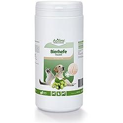 AniForte reine Bierhefe Pulver 1kg, Naturprodukt für Hunde, Katzen und Pferde, Glänzendes und kräftiges Fell, Vitale Haut, Reich an B-Vitaminen, Mineralien, Spurenelementen