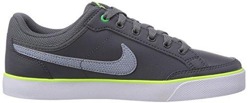 Nike Capri 3 Leather, Chaussures de Tennis Garçon Gris (dark Grey/wolf Grey-light Green Spark-volt)