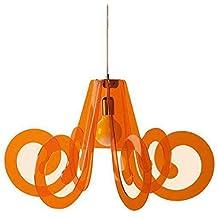 Lámpara de techo lámpara RICCIOLO de metacrilato Naranja La Ditta Emporium