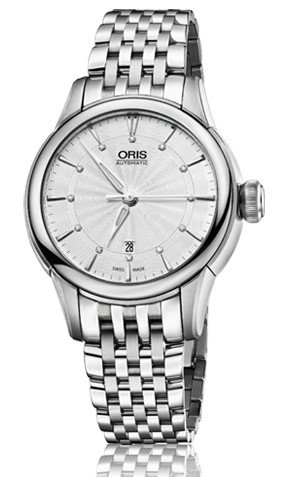 Oris Artelier Date Silver Dial Stainless Steel Ladies Watch 01 561 7687 4051-07 8 14 77 by Oris