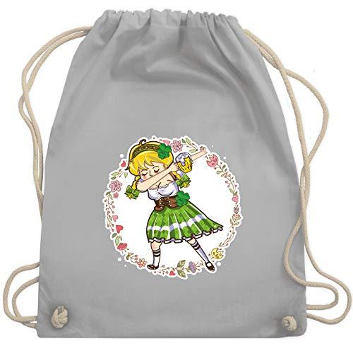 St. Patricks Day - Mädchen Dab - St. Patrick's Day - Unisize - Hellgrau - WM110 - Turnbeutel & Gym Bag