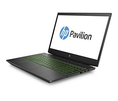 HP Pavilion 15-cx0002ng (15,6 Zoll/ Full HD IPS) Gaming Notebook (Intel Core i5-8300H, 128GB SSD, 1TB HDD, 8GB RAM, Nvidia GeForce GTX 1050Ti 4GB, Windows 10 Home 64) Schwarz/Grün