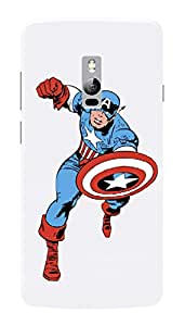 OnePlus 2 Black Hard Printed Case Cover by HACHI - Captain America Fans design