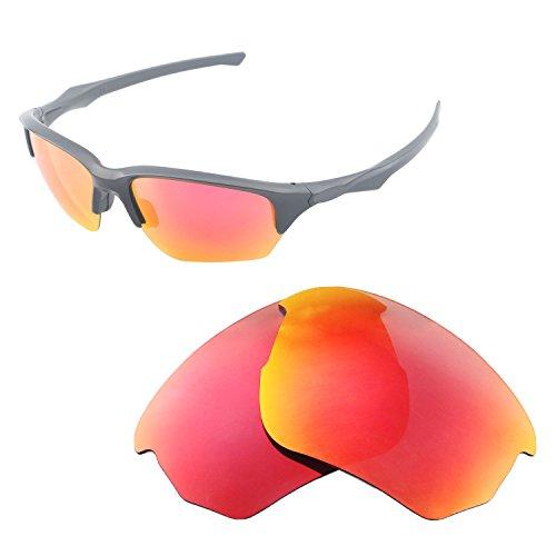 Walleva Ersatz-Gläser für Oakley Flak Beta-mehrere Optionen, Fire Red - Polarized