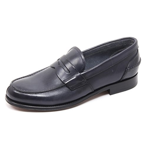 B5775 mocassino uomo BRECOS scarpa blu shoe loafer man [43]
