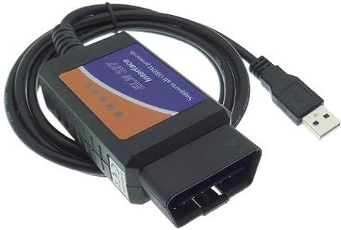 ELM OBD2 327 CAN-BUS USB de diagnostic carPort erreur logiciel appareil auto voiture allume-cigare