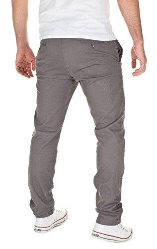WOTEGA Herren Chinohose 140 Chino slim fit Grau (Grey 42361)