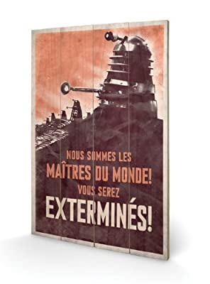 Pyramid International SW10471PDoctor Who Extermines Small Wooden Wall Artpanneaux sur bois