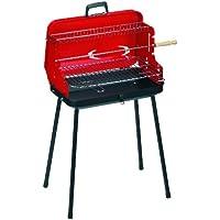 Alperk Camping - Barbacoa portátil, 49 x 36 x 82 cm, Color Rojo y Negro