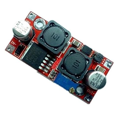 SODIAL(R) DC/DC Convertisseurs electriques DC Boost Buck Voltage Converter 3-35V to 1.25-30V 2A Full Range Regulator LM2587 DCCON-MS8