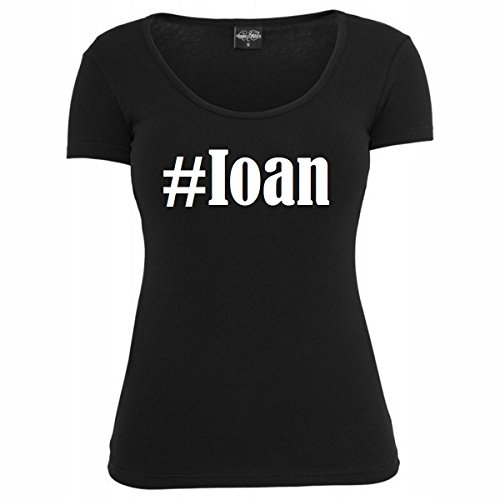 T-Shirt #Ioan Hashtag Raute für Damen Herren und Kinder ... in den Farben Schwarz und Weiss Schwarz