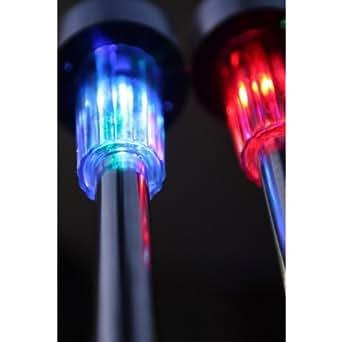 Watt et home 4 bornes solaires multicolores t l command es lampes solaires de jardin avec for Lampe solaire jardin de couleur