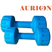 Aurion Set of 2 PVC Dumbbells Weights Fitness Home Gym Exercise Barbell (Pack of 2) Light Heavy for Women & Men's Dumbbell