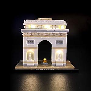 BRIKSMAX Kit di Illuminazione a LED per Lego Architecture Arc De Triomphe, Compatibile con Il Modello Lego 21036… Lego Outlet LEGO