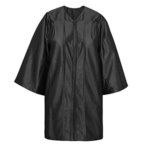 TopTie Toga Laurea Costume Unisex Abito da Laurea Misura 39 '-63' Black
