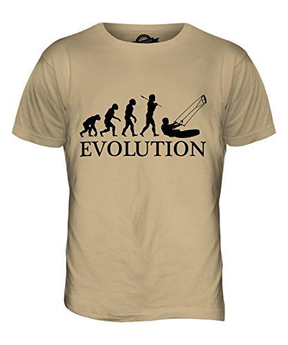 CandyMix Kitesurfen Evolution Des Menschen Herren T Shirt Sand