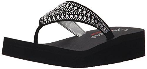 Skechers Vinyasa Bindu, Women's Thong Sandals, Noir (Noir/Argent), 2 UK