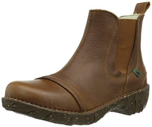 El Naturalista N158 Grain Black-Egeo / Yggdrasil, Boots femme Marron