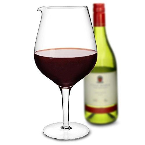 bar@drinkstuff Giant Wein Glas Dekanter 1,9Liter-Groß Neuheit geformte Glas Karaffe zum Servieren von Wein