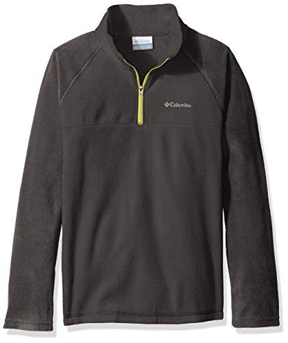 Columbia Jungen Glacial Sportswear 1/2 Zip Fleece XS Shark/Acid Yellow -