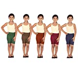 Gold Jasmine Cotton Cycling Shorts/Tights for Girls & Kids Pack of 5