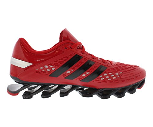 Adidas Mens Springblade Unità Scarpe da corsa - Running Bianco / nero / bianco (6.5) Red