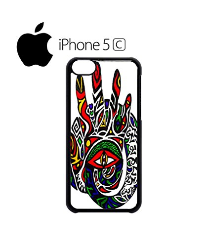 Third Inner Eye Hand Funny Hipster Swag Mobile Phone Case Back Cover Hülle Weiß Schwarz for iPhone 5c White Weiß
