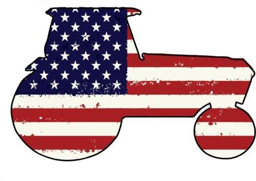 Traktor vinyl Magnet-Traktor Silhouette mit American Flagge Auto-Magnet-Patriotische Kühlschrank Magnet-perfekt Farmer Cowboy Country oder Farm Lover Geschenk-hergestellt in den USA (Automobil-laptop-stand)