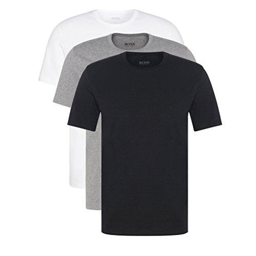 Hugo Boss 3er Pack O Neck XXL 999 Rundhals Ausschnitt T Shirts weiss graumeliert schwarz -