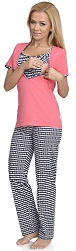 Be Mammy Femme Allaitement Ensemble de Pyjama Valerie Corail