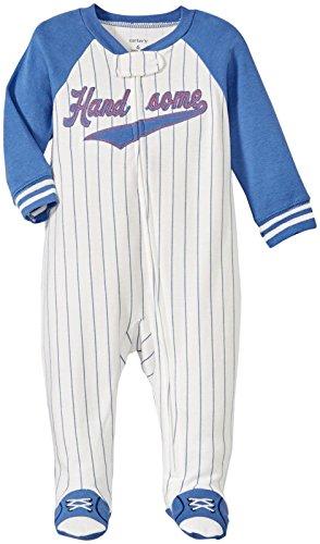 Carter's Schlafanzug Baumwolle Einteiler Junge Boy Sommer Reißverschluss Strampler (newborn, weiss) (Baumwolle Carters Kinder)