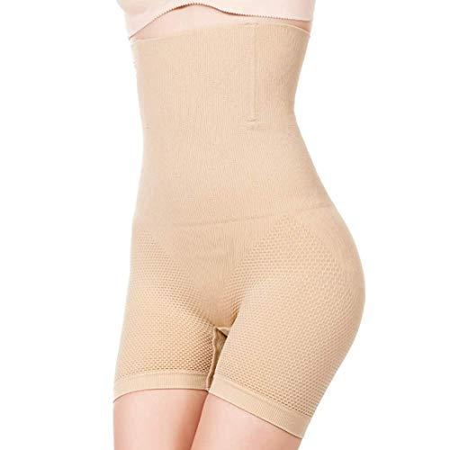 DIZTIE Chair Gaine Amincissante Ventre Plat Panty Gainant Culotte Gainante Sculptante Minceur Taille Haute Invisible (Beige, XL)
