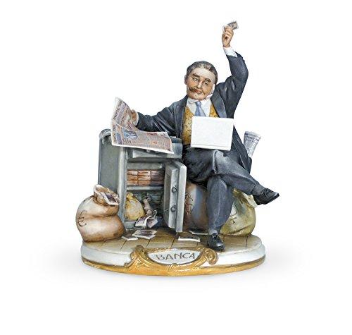 Capodimonte Porzellan Banker Figur–Ideal Banker Geschenk