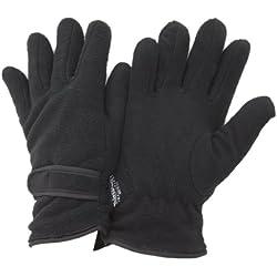 Floso- Guantes térmicos con forro polar Thinsulate para mujer (3M 40g) (Talla Única) (Negro)