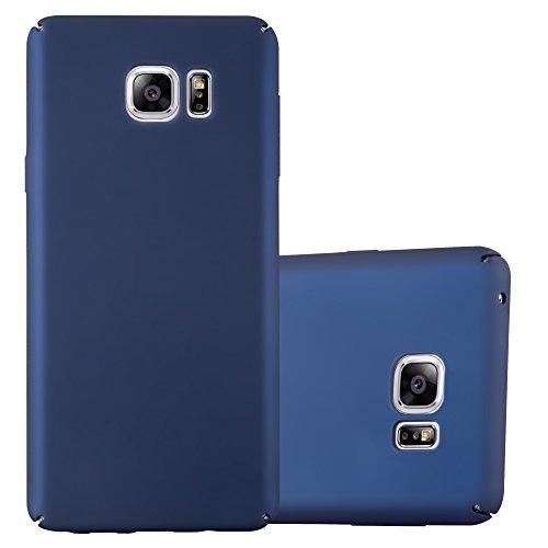 Preisvergleich Produktbild Cadorabo Hülle für Samsung Galaxy Note 5 - Hülle in Metall BLAU – Hardcase Handyhülle im Matt Metal Design - Schutzhülle Bumper Back Case Cover