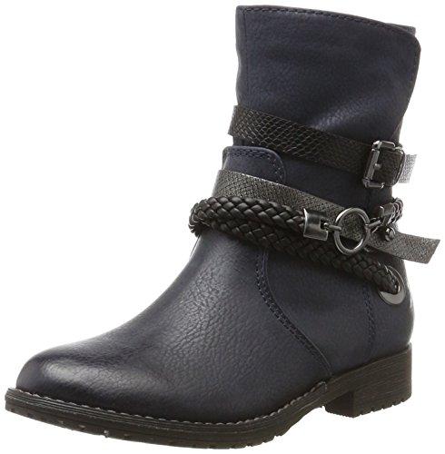 Blau Mädchen Boots (Marco Tozzi Cool Club Mädchen 46402 Biker Boots, Blau (Navy Antic Com), 36)