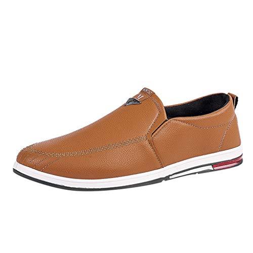 Scarpe Uomo Pelle, Stringate Basse Derby Mocassini Uomo Pelle Estivi Pantofole Casual Eleganti Slip On Scarpe da Guida Scarpe da Barca Classic Loafers