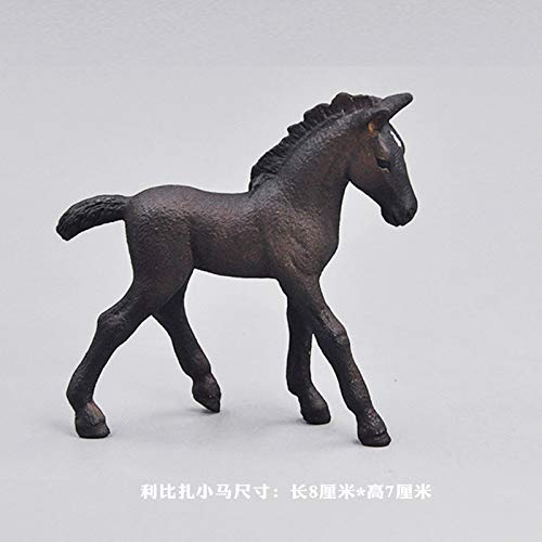 OYBB Statuen Ornamente Dekorationen Simulation Tiermodell Set Wildtier Set Dark Horse -