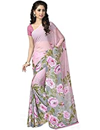 09a2bde736e Vaamsi Chiffon Saree with Blouse Piece (Rolex3064 Multicoloured One Size)