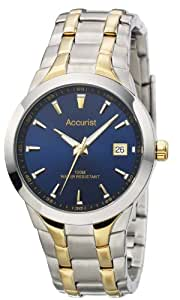 Accurist Men's Quartz Watch with Blue Dial Analogue Display and Multi-Colour Stainless Steel Bracelet Mb859N