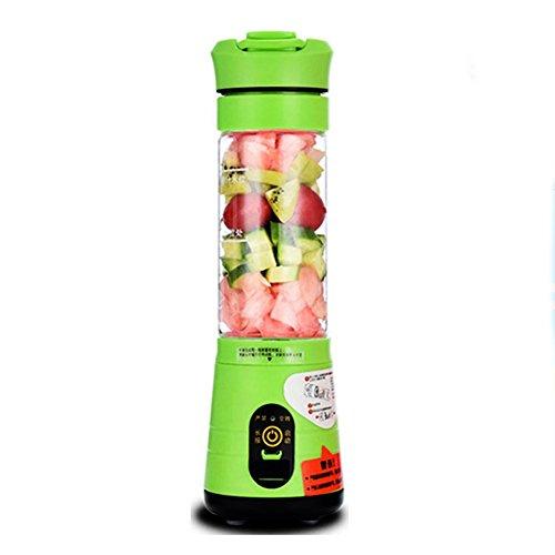 Batidora de Frutas, licuadora de jugos, Cargador USB, (22,000 RPM), licuadora Personal [Vidrio] Bpa Portátil, Botella Deportiva tritan Libre de 500ml -B 20x6cm (8x2inch)