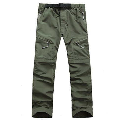 CIKRILAN Herren Quick Dry Wicking Entfernbar Trousers Zip Off Bein Hose Outdoor Angeln Wan