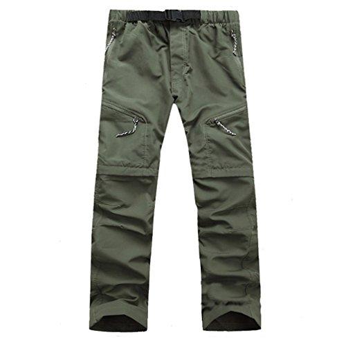 CIKRILAN Herren Quick Dry Wicking Entfernbar Trousers Zip Off Bein Hose Outdoor Angeln Wan